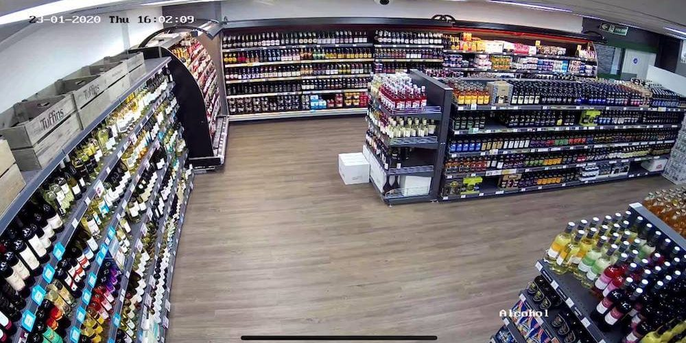 CCTV camera footage of retail shop