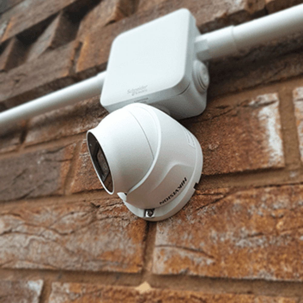 Dome CCTV camera installed
